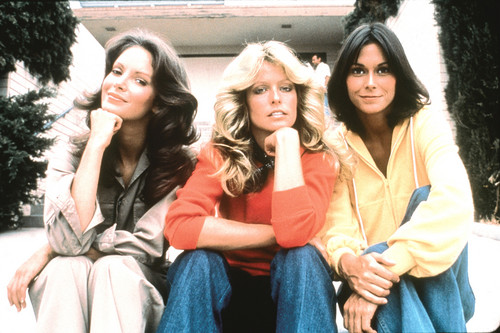 Charlie's Angels 1976 wallpaper probably containing a well dressed person and a portrait titled charlie's angels
