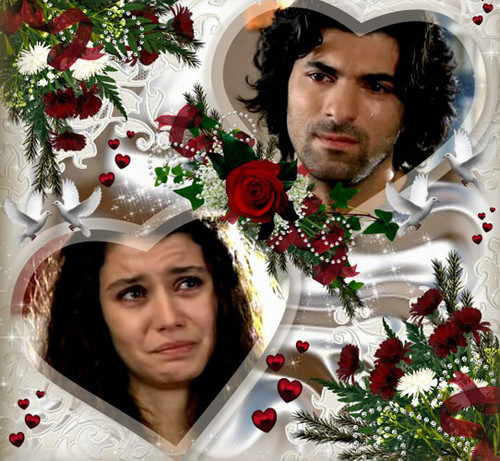 Fatmagül'ün Suçu Ne achtergrond with a bouquet called fatmagul ve kerim