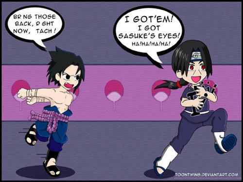 """itachi finaly got sasuke's """"eyes""""!"""