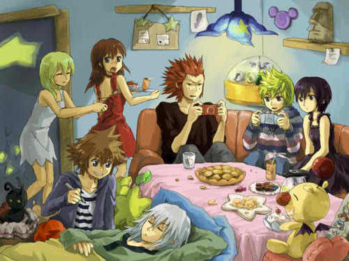 Kaharian mga puso wolpeyper probably with anime called kingdom hearts^^