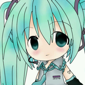 miku re-colored por my friend
