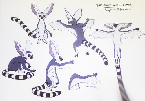 ring tailed winged lemur concept