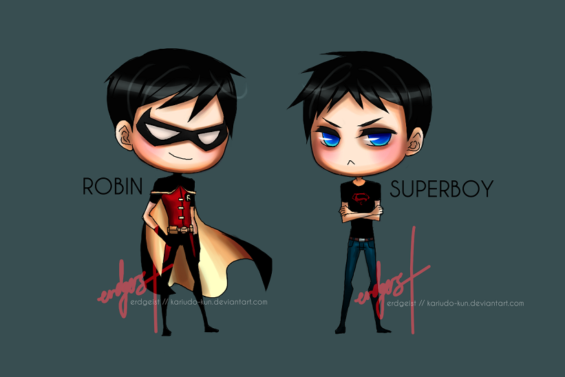 Justica Jovem Images Robin And Superboy HD Wallpaper Background Photos