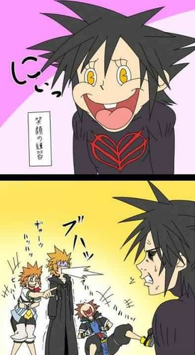Kingdom Hearts karatasi la kupamba ukuta with anime entitled vanitas happy face:D