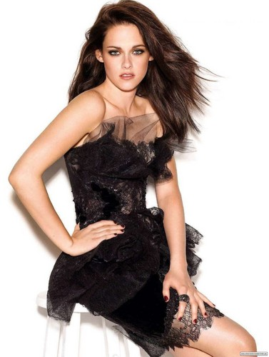 Kristen Stewart wallpaper with a cocktail dress entitled 'Glamour' UK [2011]