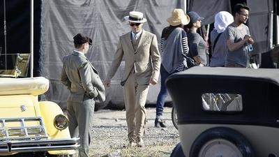 Leo On Gatsby Set. (10.28.11)