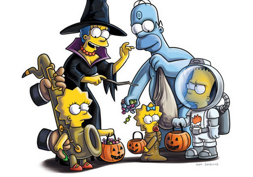 Halloween kertas dinding containing Anime entitled ☆ Simpson's Halloween