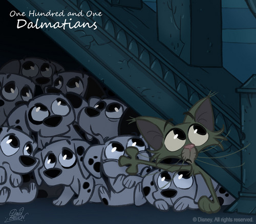 101 Dalmatians CHIBI - walt-disney-characters Fan Art