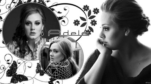 Adele Hintergrund with a portrait entitled Adele