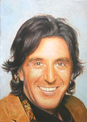Al - acrylic portrait ...
