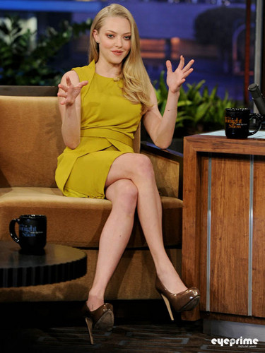 Amanda Seyfried appears on 'The Tonight Show With gaio, jay Leno', Oct 25