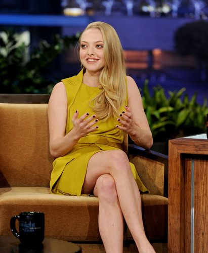 Amanda Seyfried appears on 'The Tonight tunjuk With jay Leno', Oct 25