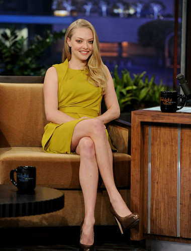 Amanda Seyfried appears on 'The Tonight tampil With jay Leno', Oct 25