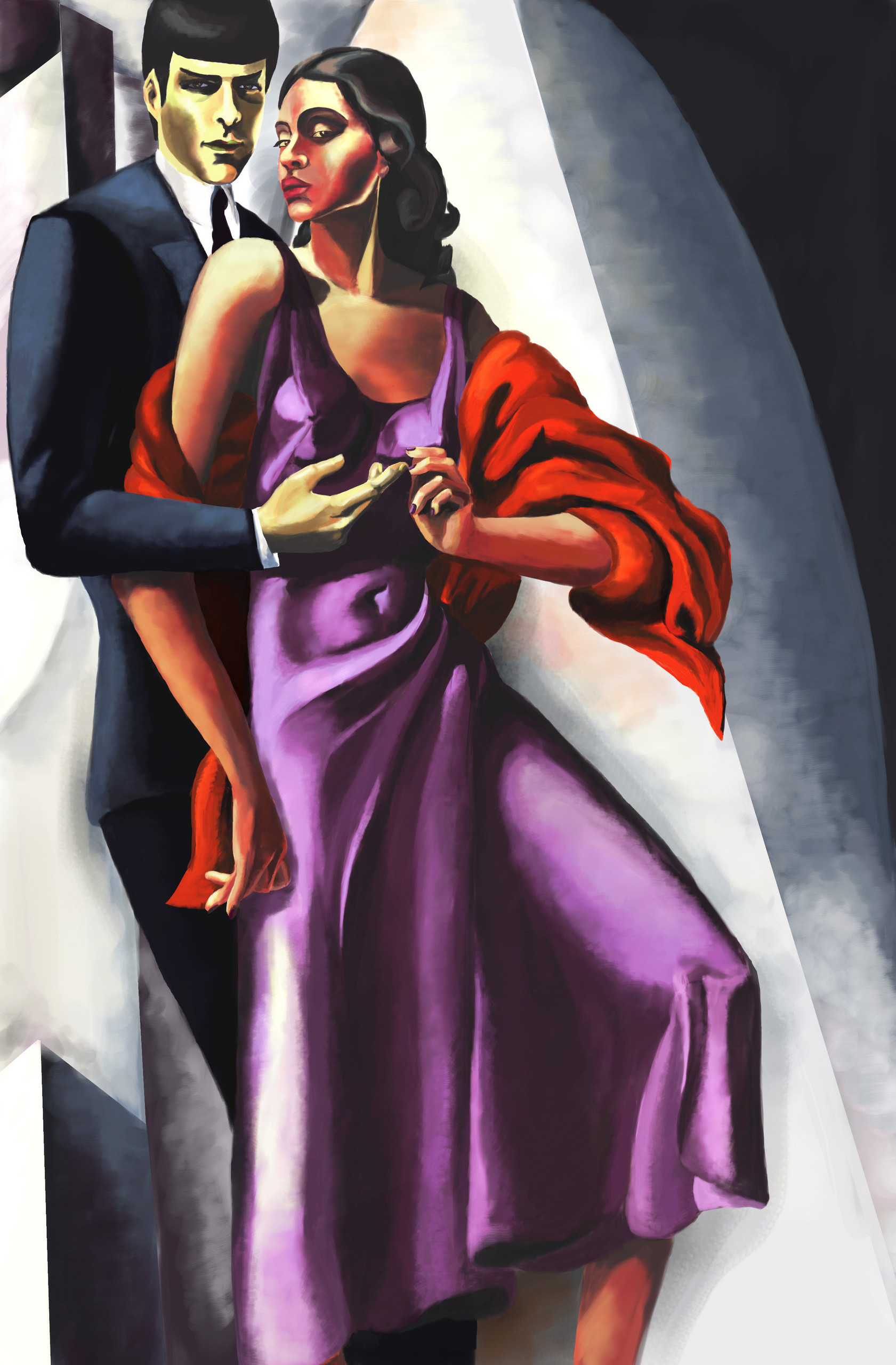 Art Deco Spock and Uhura - Spock & Uhura Fan Art (26342880 ... - photo#11