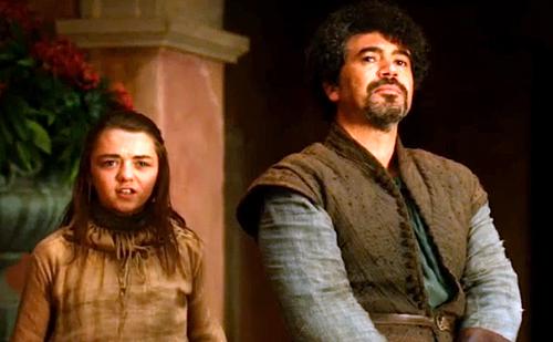 Arya Stark and Syrio Forel