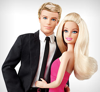 Barbie wallpaper possibly with a business suit called Barbie and Ken <3