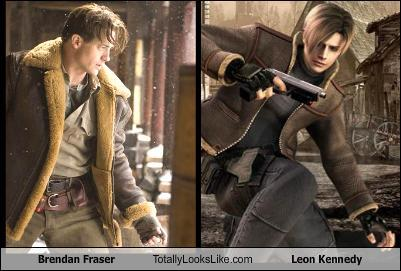 Brendan Fraser and Leon Kennedy