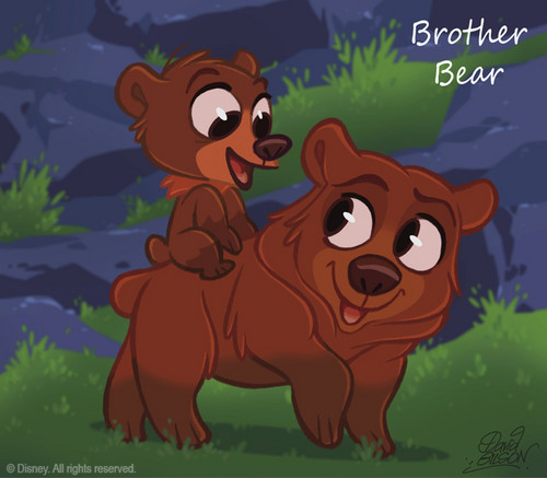 Brither bear, Koda and Kinai चीबी