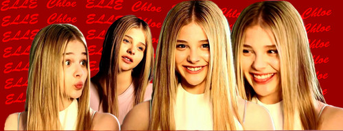科洛·莫瑞兹 壁纸 entitled Chloe elle banner