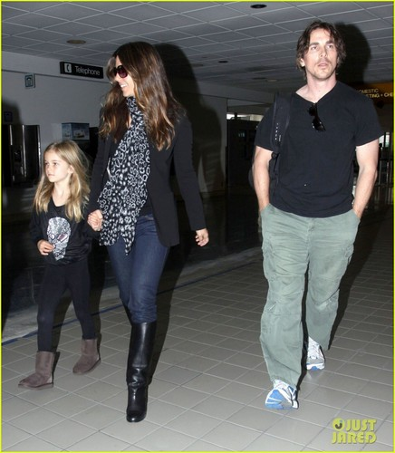Christian Bale: LAX Airport with Sibi! - christian-bale Photo