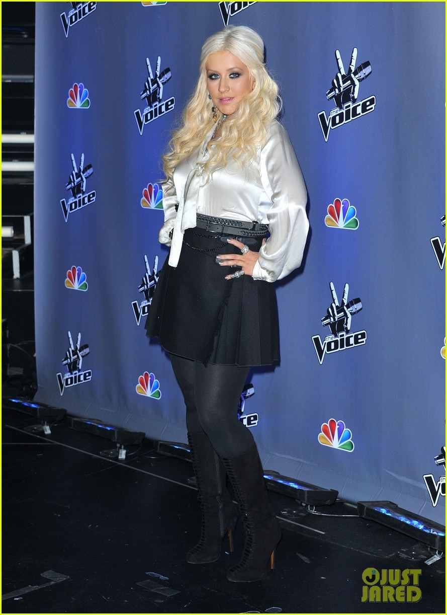 Christina @ THE VOICE SEASON 2 Press Junket - Christina Aguilera Photo ...