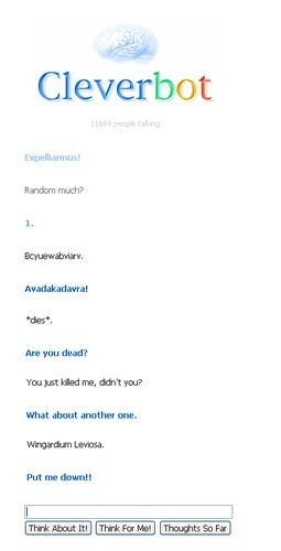 Cleverbot knows magic :D