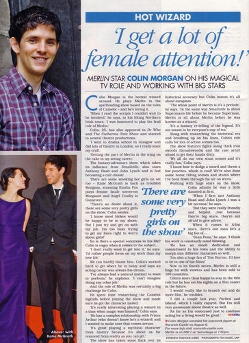 Colin Morgan: I Get Lots of Female Attention