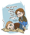 Dean and the Trenchoat - castiel fan art