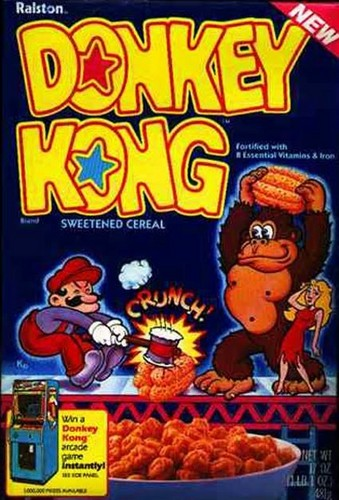 Nintendo wallpaper probably containing anime entitled Donkey Kong Cereal