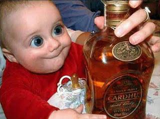 Drunk baby...