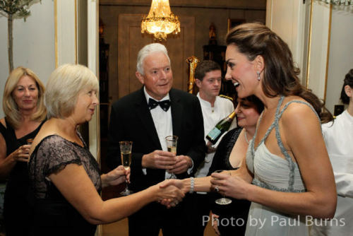 Prince William and Kate Middleton wallpaper called Duchess Catherine hosting a private charity dinner at Clarence House.