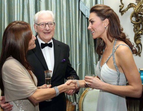 Duchess Catherine hosting a private charity abendessen at Clarence House.