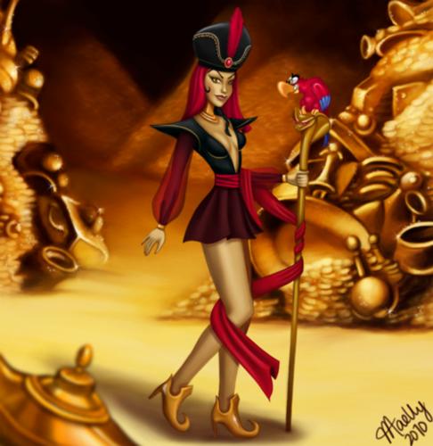 डिज़्नी के खलनायक वॉलपेपर titled Evil चमेली