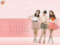 Girls' Generation Vita500 November Calendar