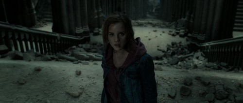Hermione Granger wallpaper possibly containing a street, a well dressed person, and a box coat called Harry Potter - Deathly Hallows II