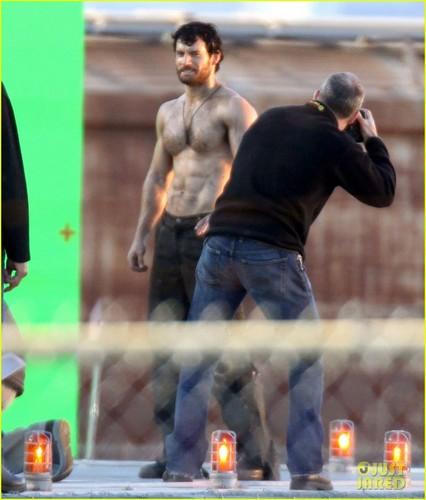 Henry Cavill: 'Man of Steel' Green Screen Scenes!