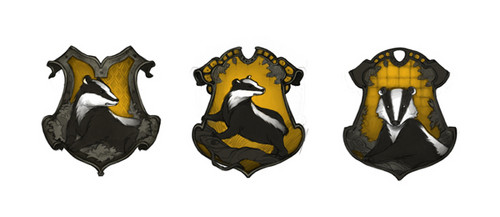 Hufflepuff crest concept art - pottermore Photo