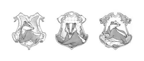 Hufflepuff crest concept art