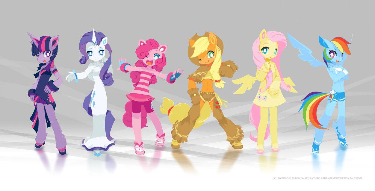 My little pony friendship is magic human ponies x3