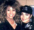 JANET AND TINA TURNER 1990