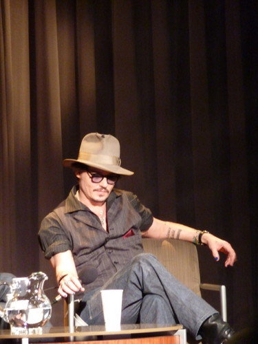 Johnny Depp wallpaper containing a fedora, a boater, and a campaign hat called JD at the AFF
