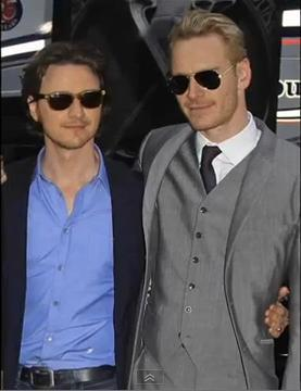 James McAvoy and Michael Fassbender wallpaper probably with sunglasses titled James and Michael ♥