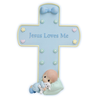 Jesus Loves Me kreuz With Stand