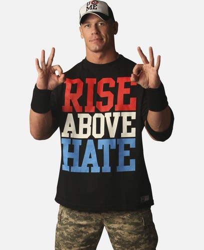 John Cena wallpaper probably with a right fielder and a ballplayer called HQ *John Cena - RISE ABOVE HATE