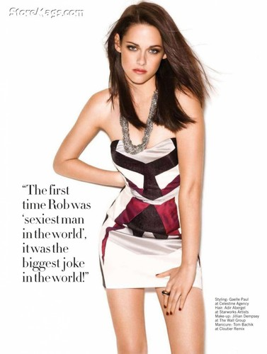 Kristen Stewart wallpaper probably containing a chemise, a cocktail dress, and a chemise entitled Kristen in Glamour UK magazine
