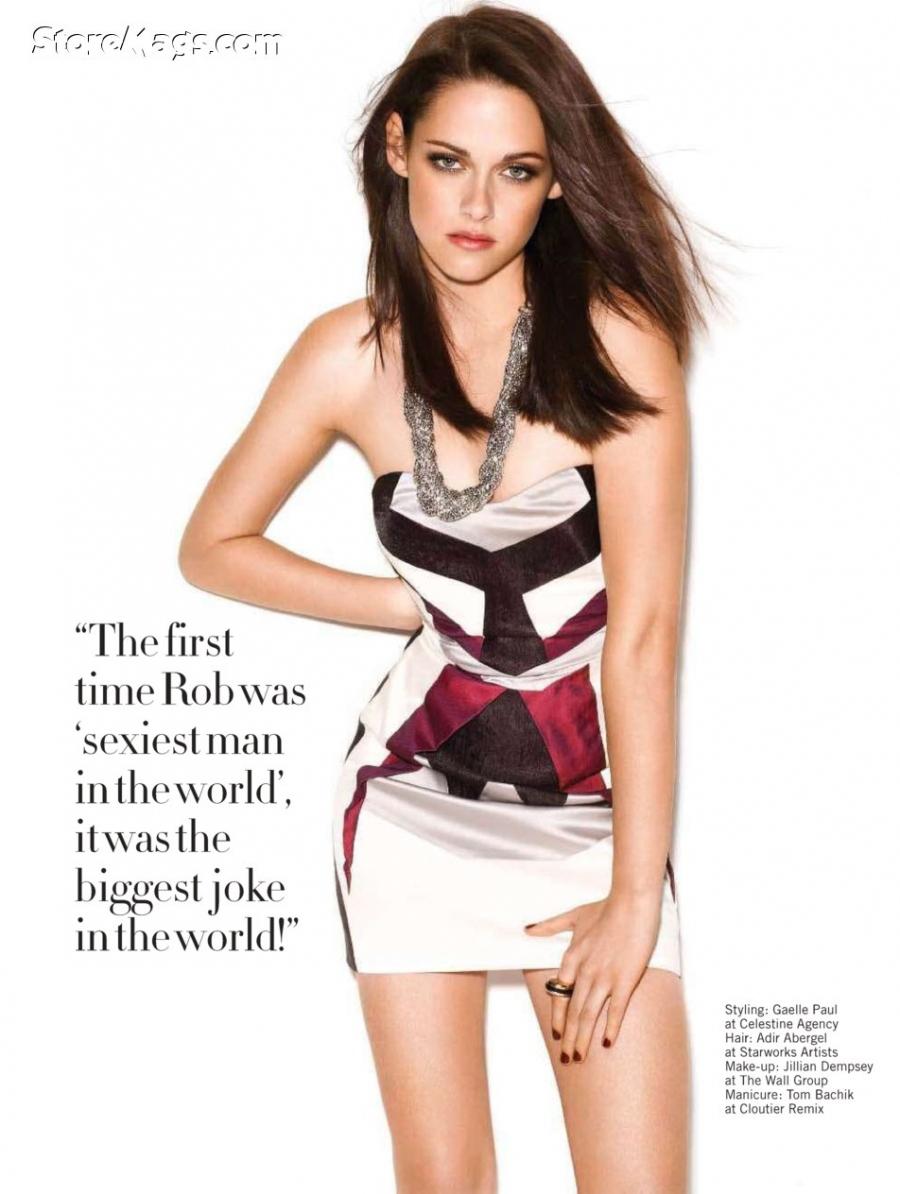 Kristen in Glamour UK magazine