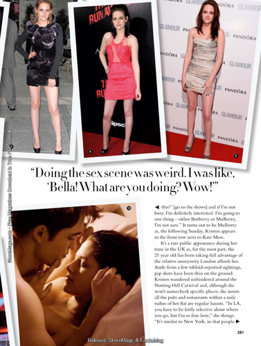 Kristen in Glamour UK magazine