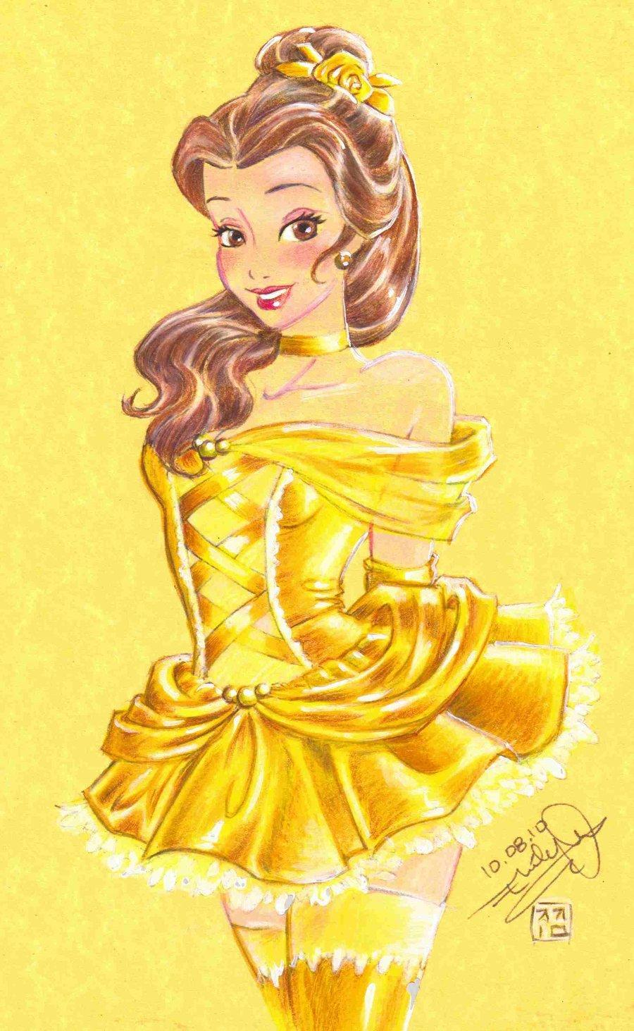 ... Fan Art (26322709) - Fanpop Beauty And The Beast Belle Pink Dress Beauty And The Beast Belle Pink Dress