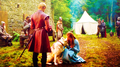 Lady and Sansa Stark with Joffrey - game-of-thrones-direwolves photo
