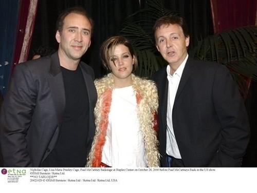 Lisa Marie Presley wolpeyper entitled Lisa,Nicolas Cage and Paul :D
